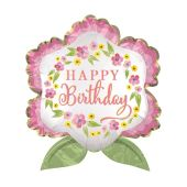 Birthday Blooms Satin 70CM