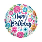 Happy Birthday Bright Flowers