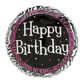 Happy Birthday - Black & Pink