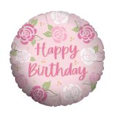 Happy Birthday - Pink Roses