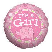 It's a Girl Zoobilee Balloon