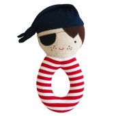 Linen Pirate Grab Rattle