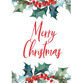 Merry Christmas - Holly