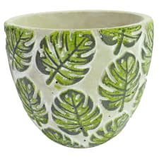 Monstera Print Pot 15CM - Standard