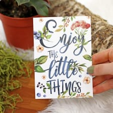 Enjoy The Little Things - Standard