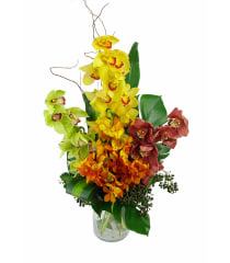 Mixed Orchid Vase