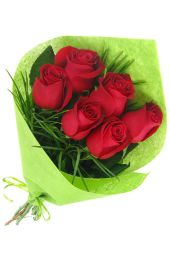 Valentine's 6 Rose Bouquet