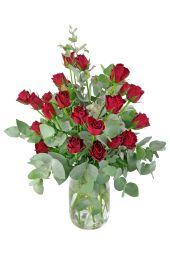 Valentine's 24 Rose Vase