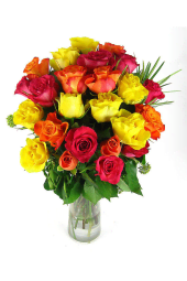 Valentine's 24 mixed roses