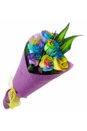 Valentine's Rainbow Roses