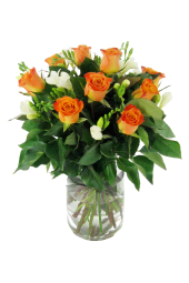 Roses and Freesias Vase