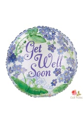 Get well soon - purple floral