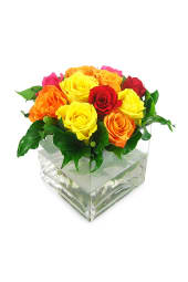 Valentine's Bright Rose Vase
