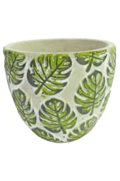 Monstera Print Pot 17CM