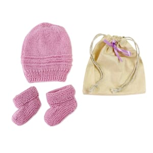 Beanie and Booties - Lavender Gift Set