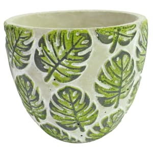 Monstera Print Pot 17CM - Standard