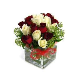 Valentine's 18 Rose Vase