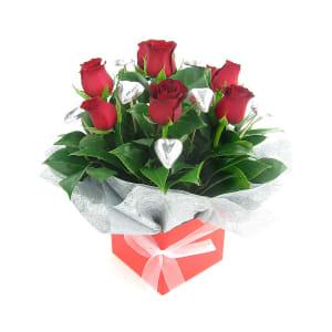 Valentine Rose and Choc box