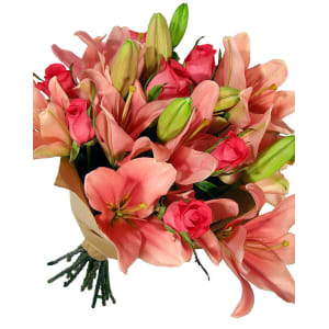 Valentine's Roses and Lilies