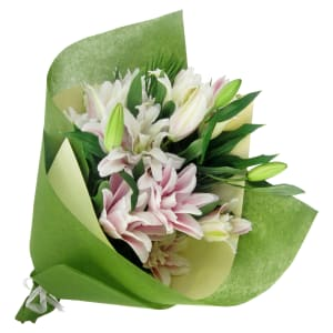 Double Delight Lily Bunch