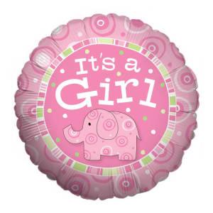 It's a Girl Zoobilee Balloon