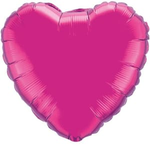 Fucia Heart Shape Balloon