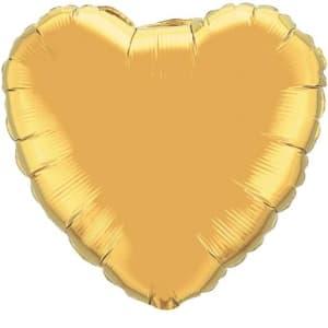 Gold heart balloon