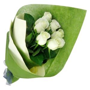 Valentine's 6 White Roses
