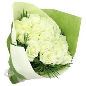 Valentine's 24 White Roses