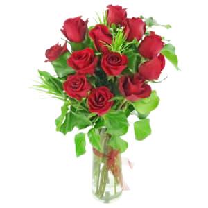 Valentine's 12 Rose Vase