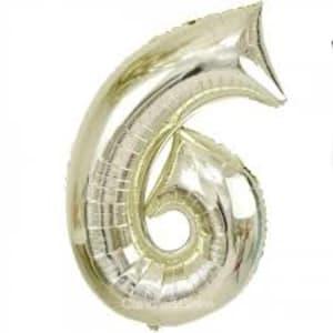 White Gold Foil '6'
