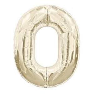 White Gold Foil '0'