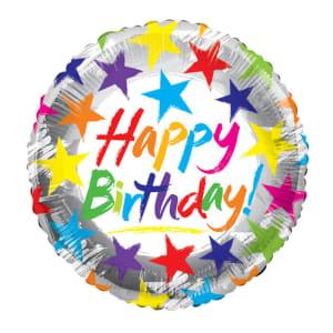 Happy Birthday Balloon - Stars