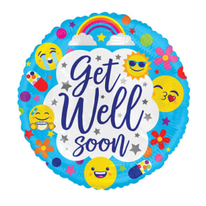 Get Well Soon - Emoji Blue