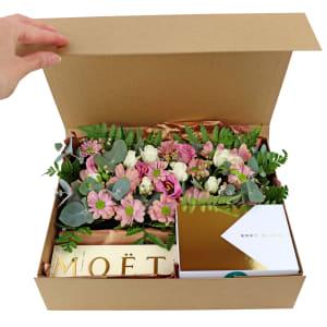 Mini Moet, Chocs & Flowers