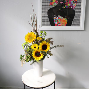 Corporate Sunflower Vase
