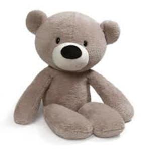 Grey Fuzzy Bear