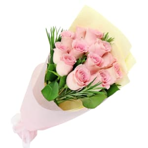 Soft Pink Rose Bunch