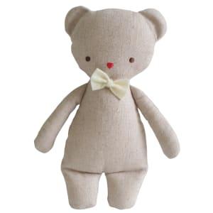 Linen Bear Rattle