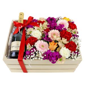 Moet Flower Crate