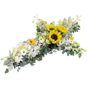 Pop Of Yellow - Cross Wreath