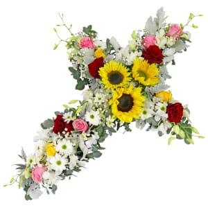 Pop of Colour - Cross Wreath