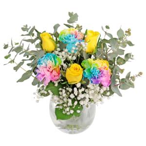 Little Flower Vase - Rainbow