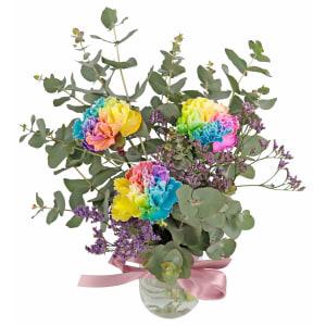 Three Rainbow Blossoms
