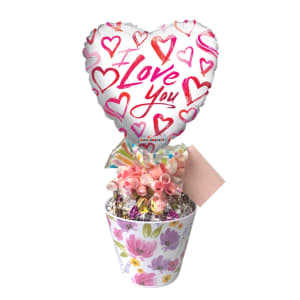 I  Love You Lolly Pot Floral