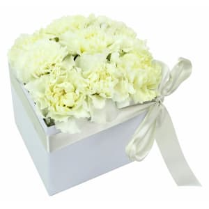 Little Flower Box - White