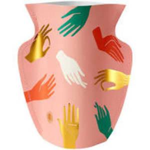 Paper Vase Hamsa Pink