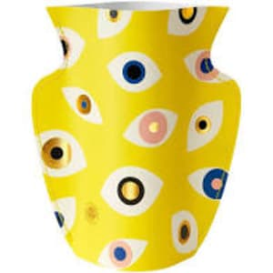 Paper Vase Nazar Yellow