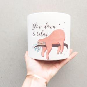Relax Sloth Pot 13cm