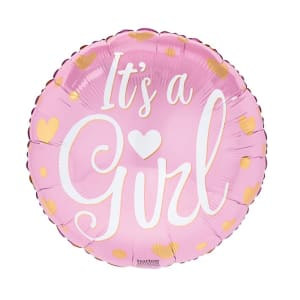 Its A Girl Gold Hearts